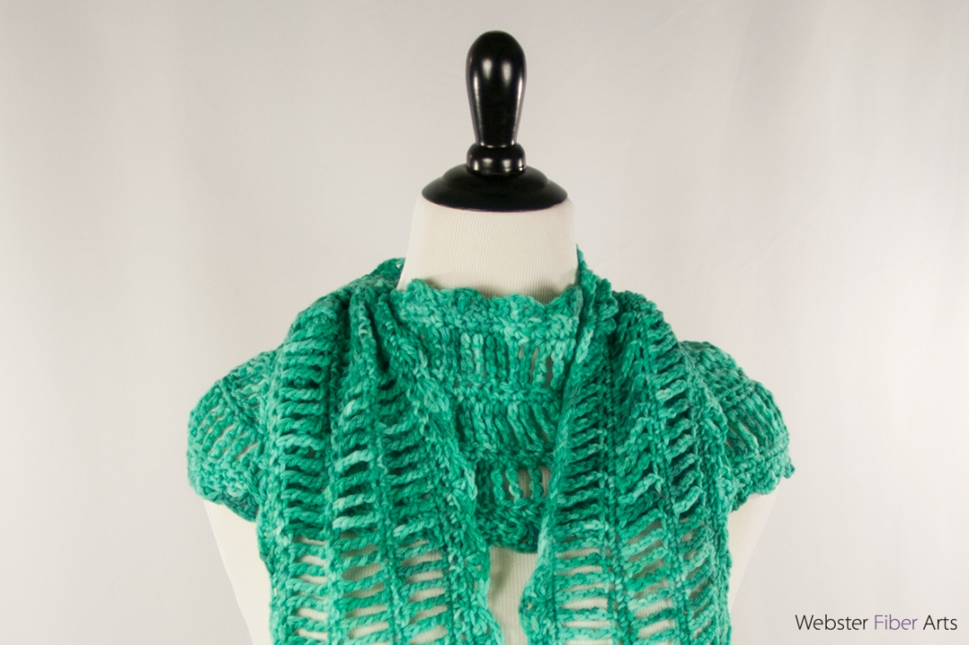 Strumming Teal Handmade Scarf | Webster Fiber Arts | Etsy