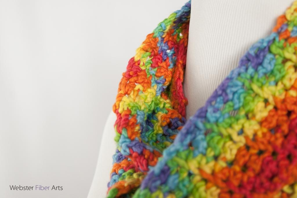 Handmade Rainbow Infinity Scarf | Webster Fiber Arts | Etsy