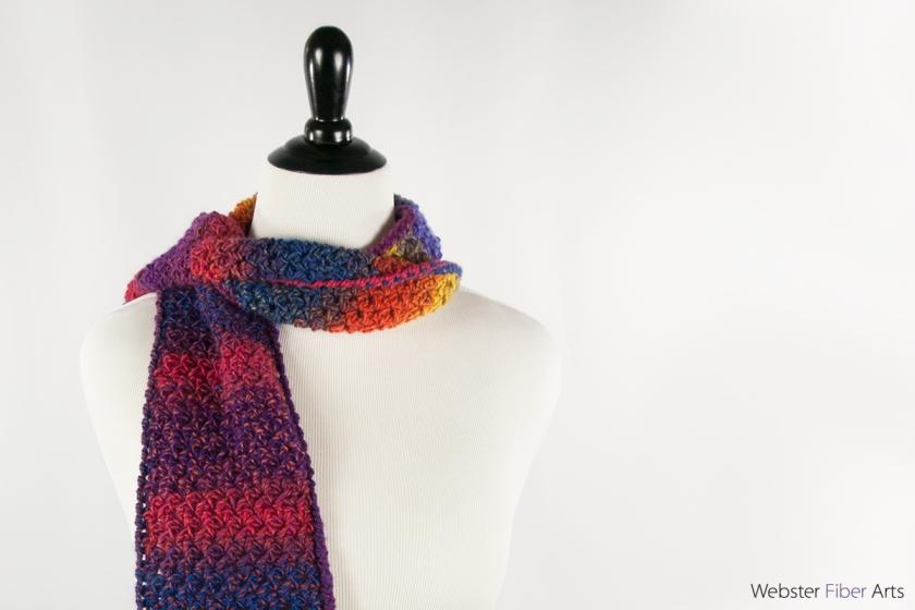 Rainbow Blues Handmade Scarf | Webster Fiber Arts | Etsy