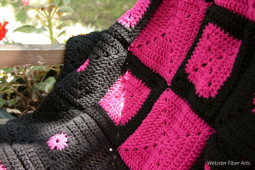 B.hooked Crochet Challenge for Warm Up America! Blanket Close Up | Webster Fiber Arts