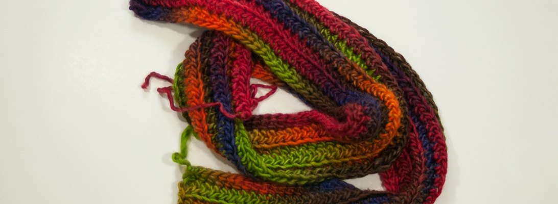 Bulky Colorful Scarf | Webster Fiber Arts