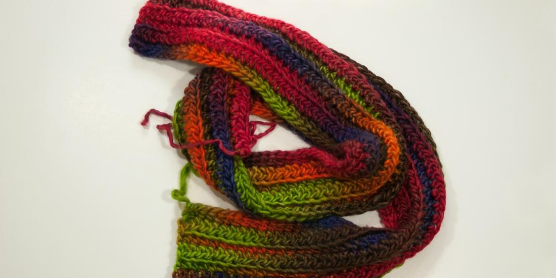 Bulky Colorful Scarf | Webster Fiber Arts