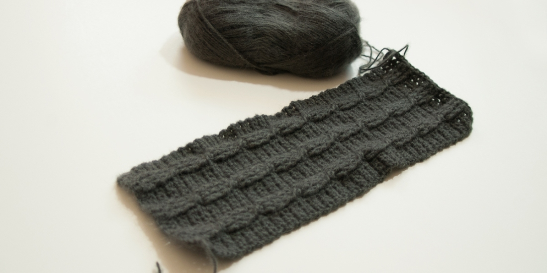 Gray Scarf with Cables | Webster Fiber Arts