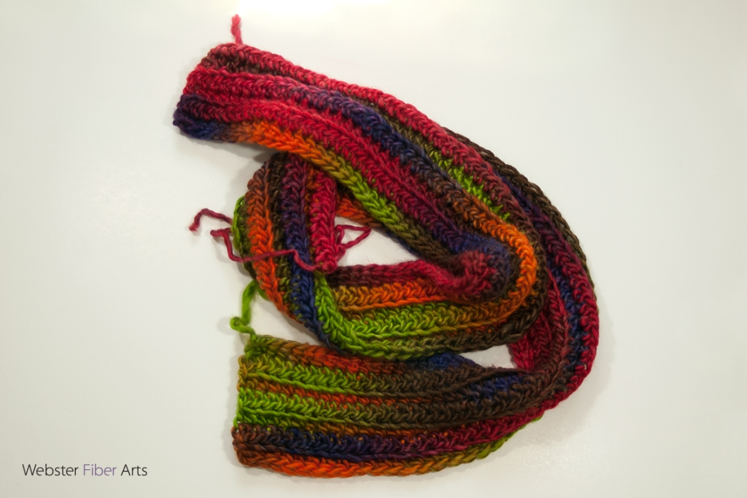 On the Hook: A Bulky Colorful Scarf | Webster Fiber Arts