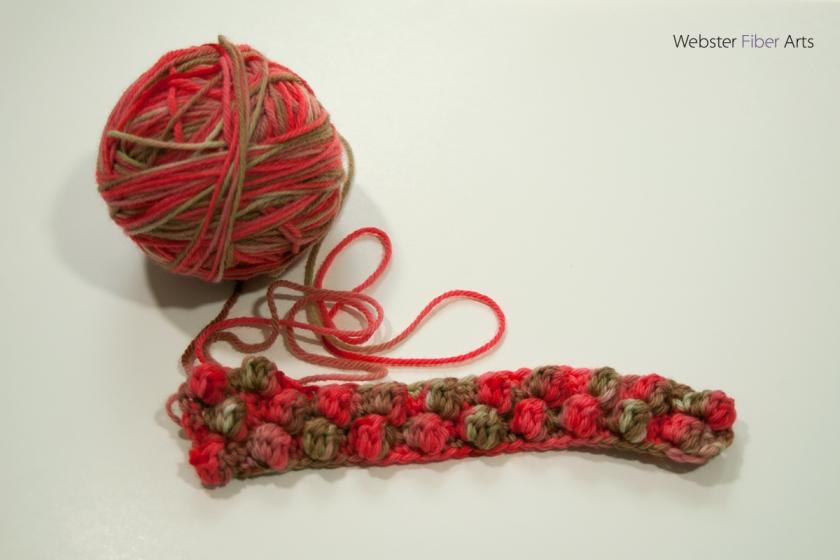 WIP: Cherry Cola Scarf | Webster Fiber Arts | Etsy