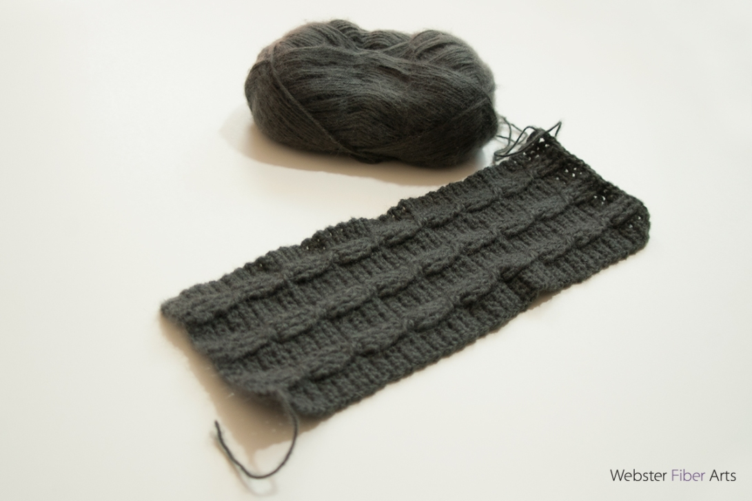 WIP: Gray Scarf with Cables | Webster Fiber Arts