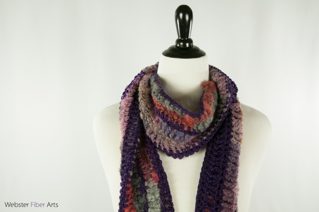 Mystical Purple Handmade Scarf | Webster Fiber Arts | Etsy