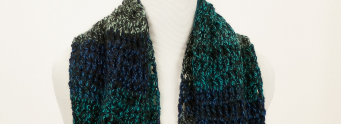 Smoky Mountain Rain Infinity Scarf | Webster Fiber Arts
