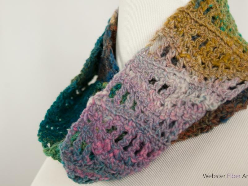 Hills & Valleys Handmade Infinity Scarf | Webster Fiber Arts | Etsy