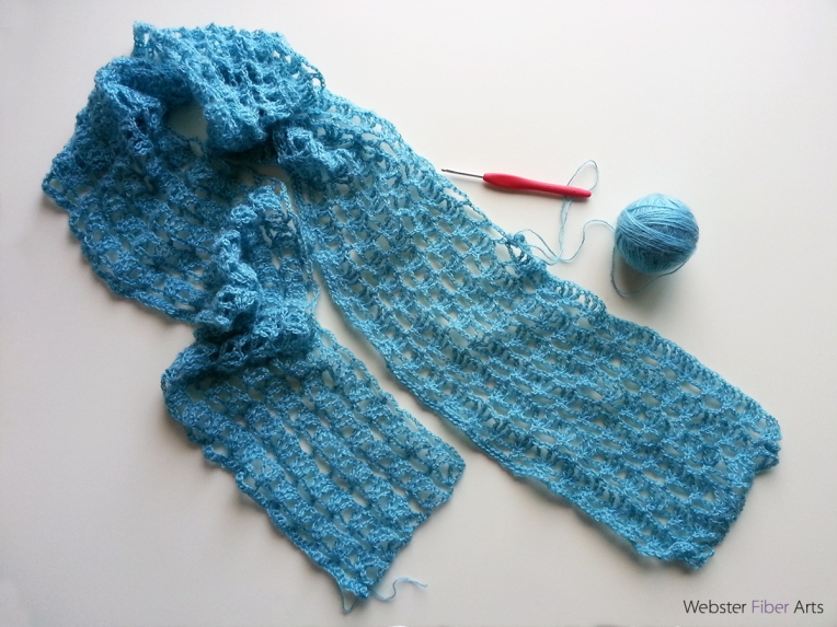 Icy Blue Lacy Wrap   Webster Fiber Arts