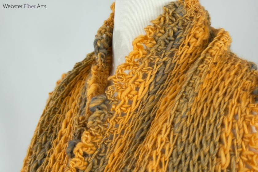 Gold & Gray Handmade Infinity Scarf | Etsy | Webster Fiber Arts