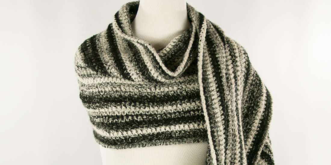 Gray Area Wrap | Webster Fiber Arts