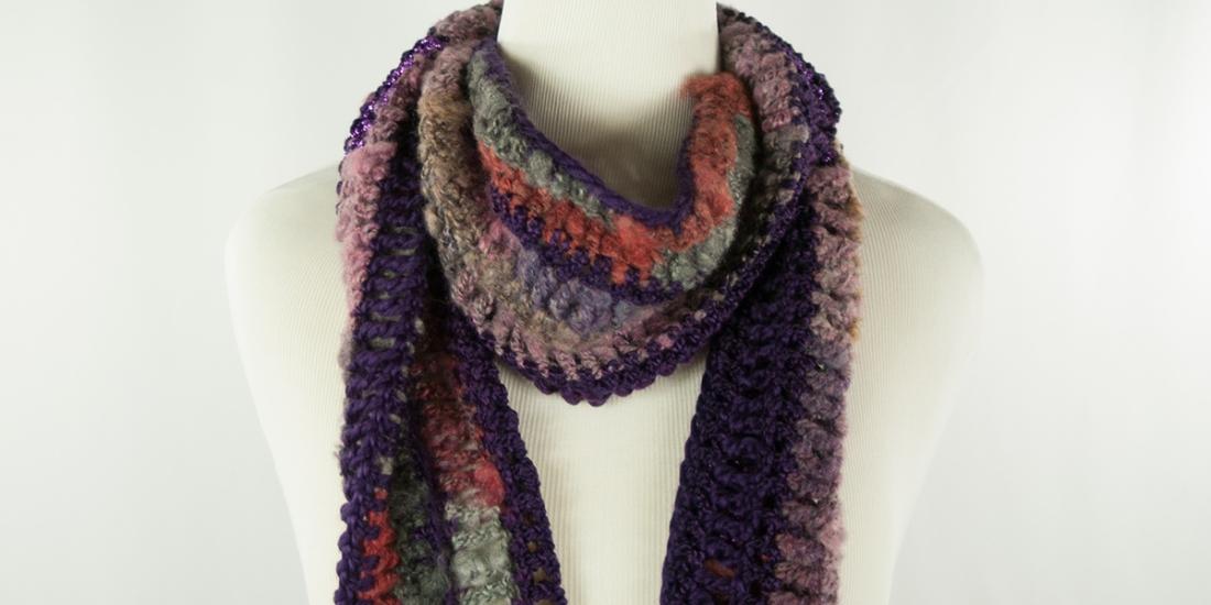 Mystical Purple Scarf | Webster Fiber Arts