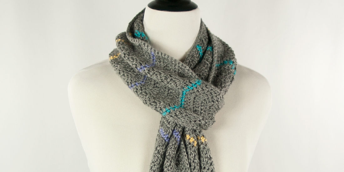 Chevron Pop Scarf | Webster Fiber Arts