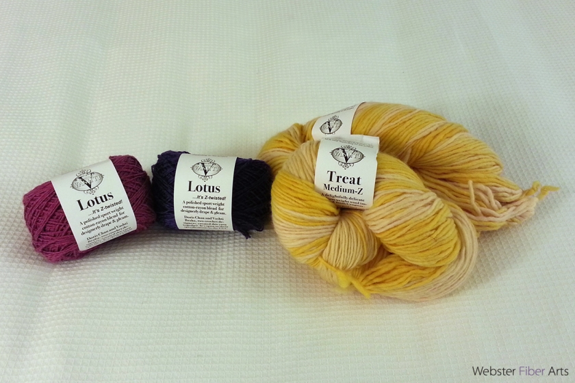Lotus and Treat Yarns from Designing Vashti | Webster Fiber Arts
