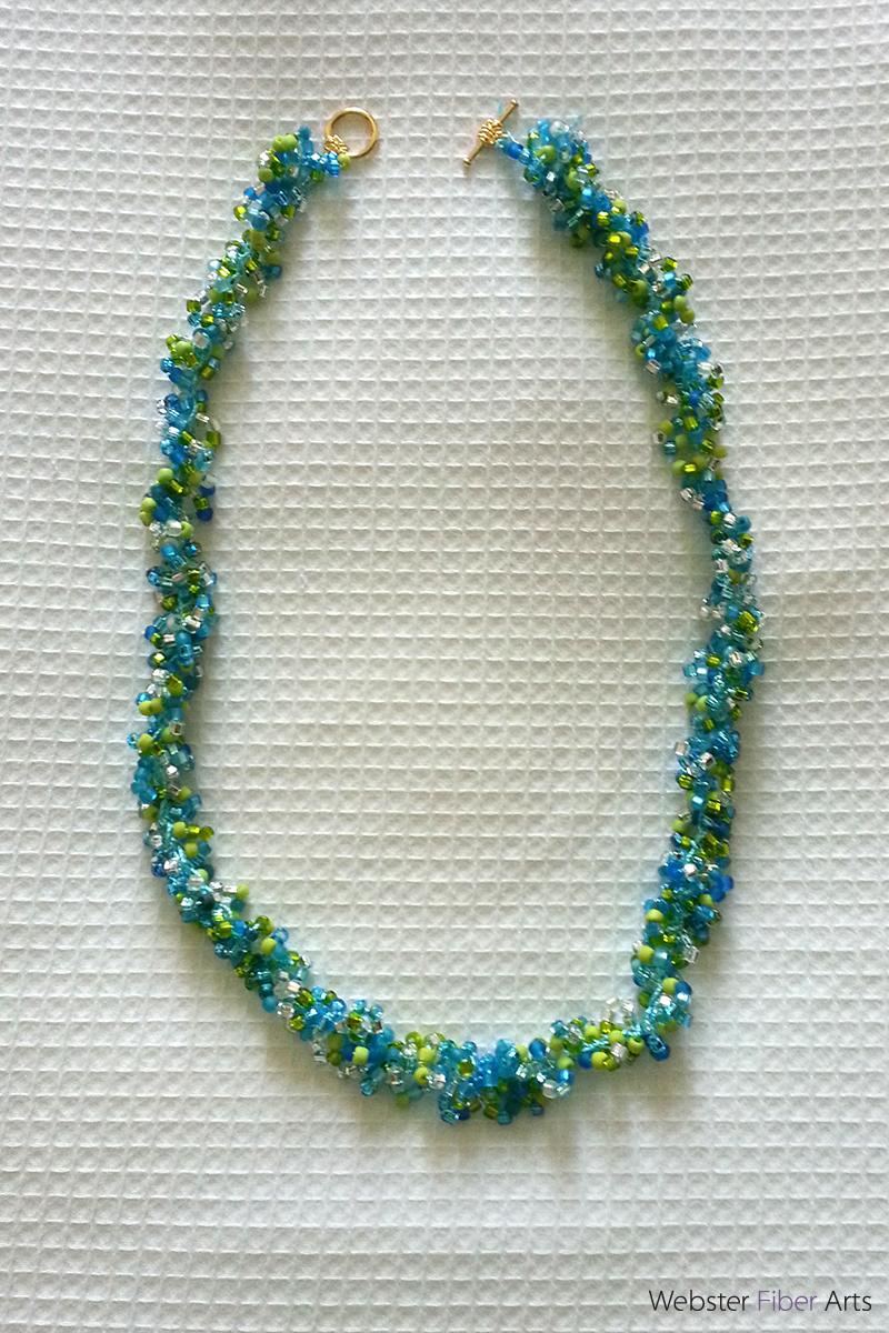 Double Helix Necklace | Webster Fiber Arts