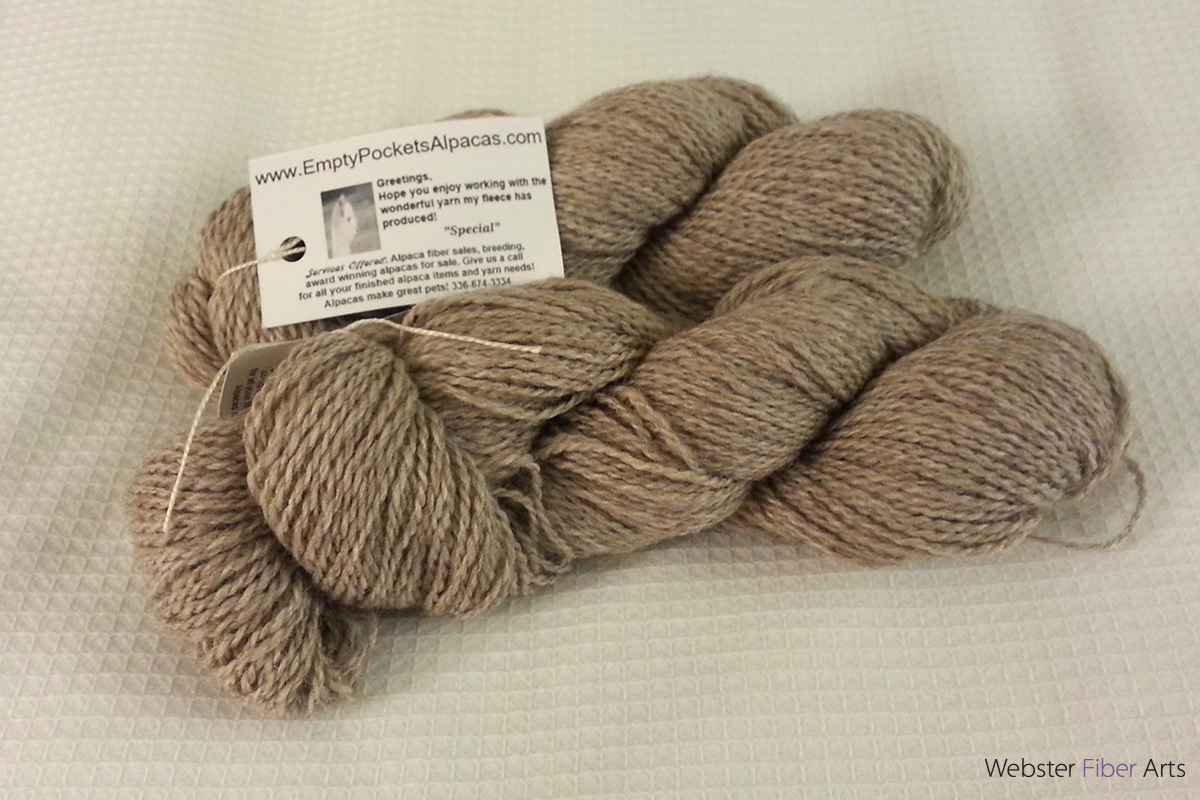 Yarn from Empty Pockets Alpacas | Webster Fiber Arts