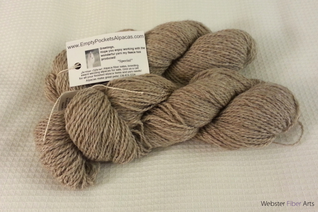 Yarn from Empty Pockets Alpacas | Webster Fiber Arts