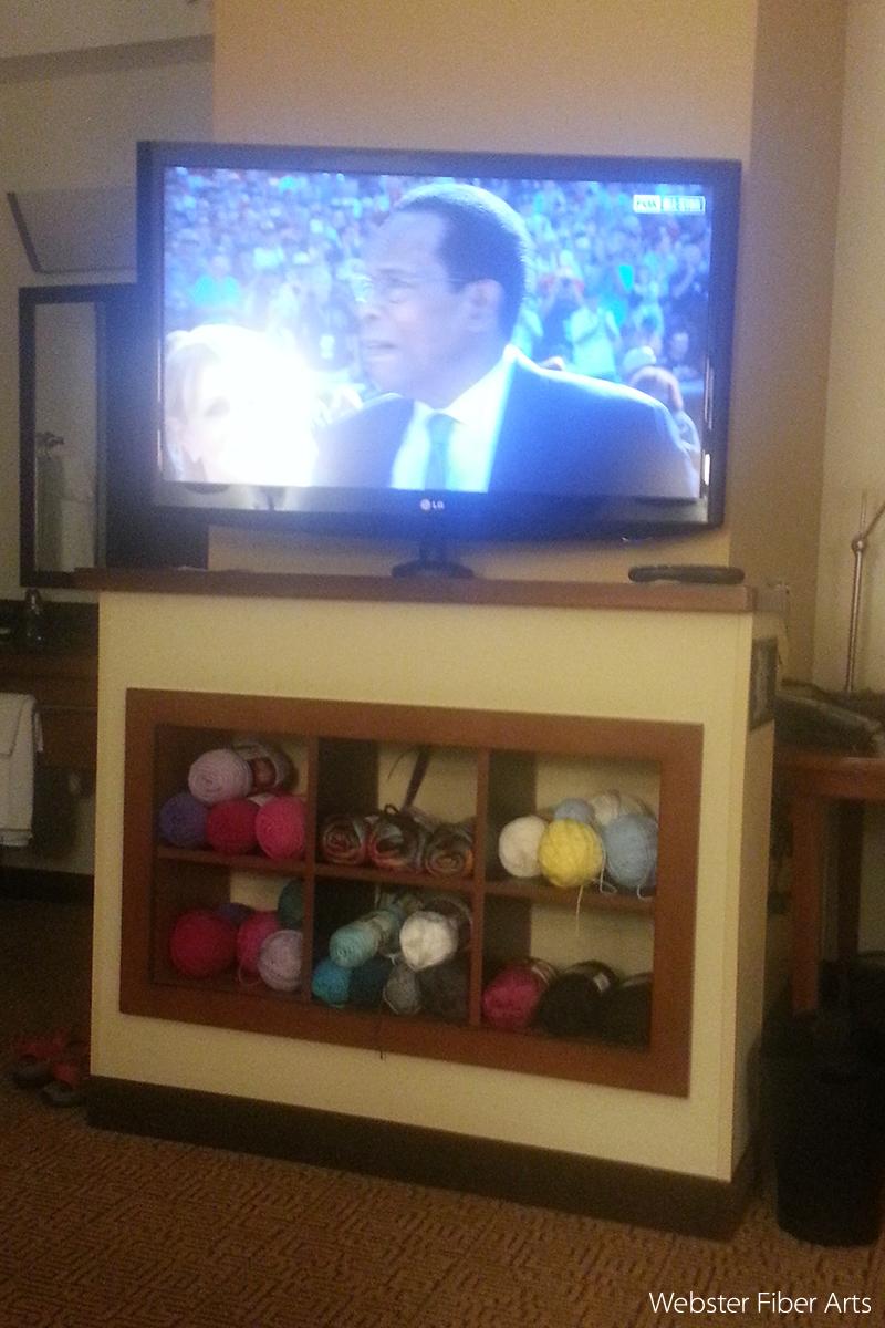 Yarn Storage at the Hyatt Place in Charleston, SC   Webster Fiber Arts