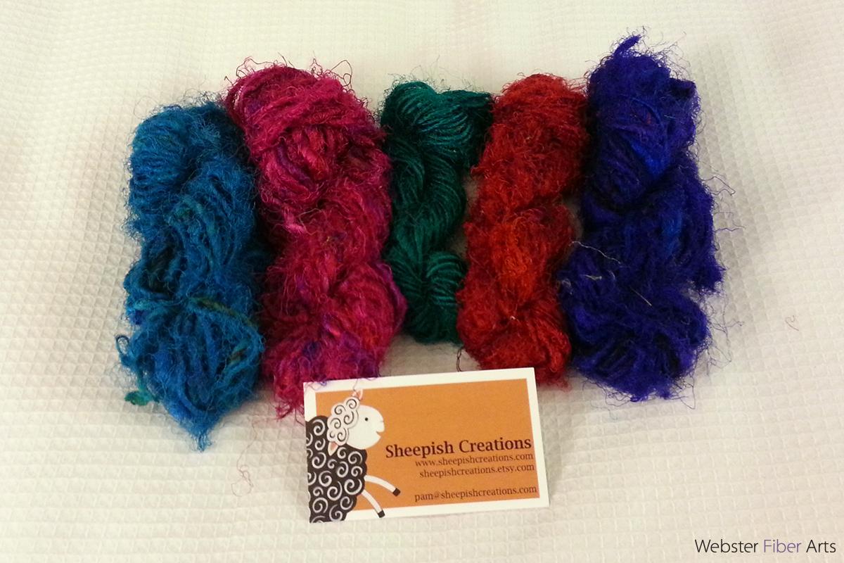 Mini Silk Skeins from Sheepish Creations | Webster Fiber Arts