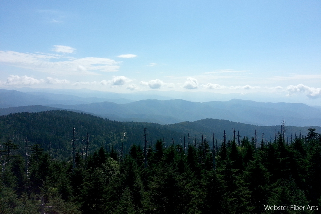 View from Clingmans Dome   Webster Fiber Arts