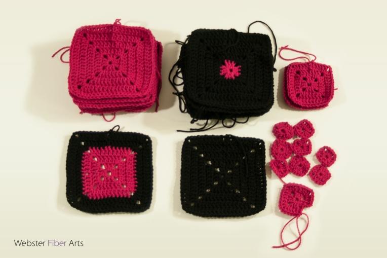 WIP: Granny Squares for B.hooked Blanket | Webster Fiber Arts