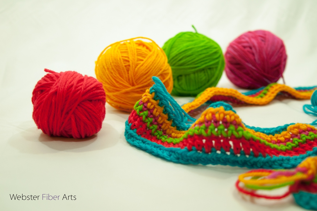 WIP: A Brightly Colored Scarf | Webster Fiber Arts