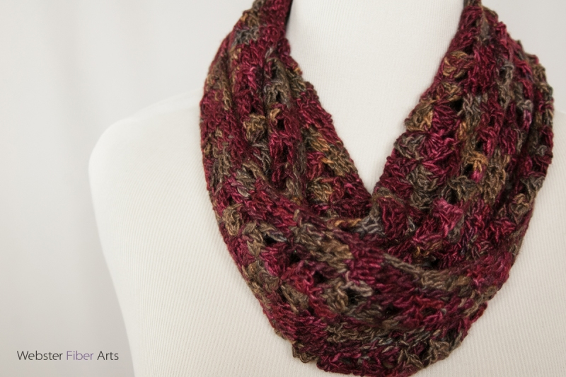 A Fan of Wine Handmade Infinity Scarf | Webster Fiber Arts | Etsy