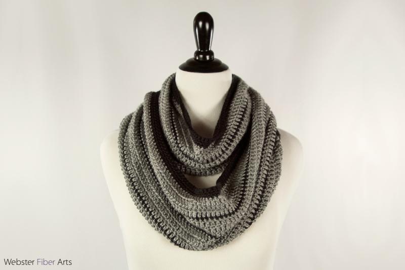 Black Stripe Handmade Infinity Scarf   Webster Fiber Arts   Etsy