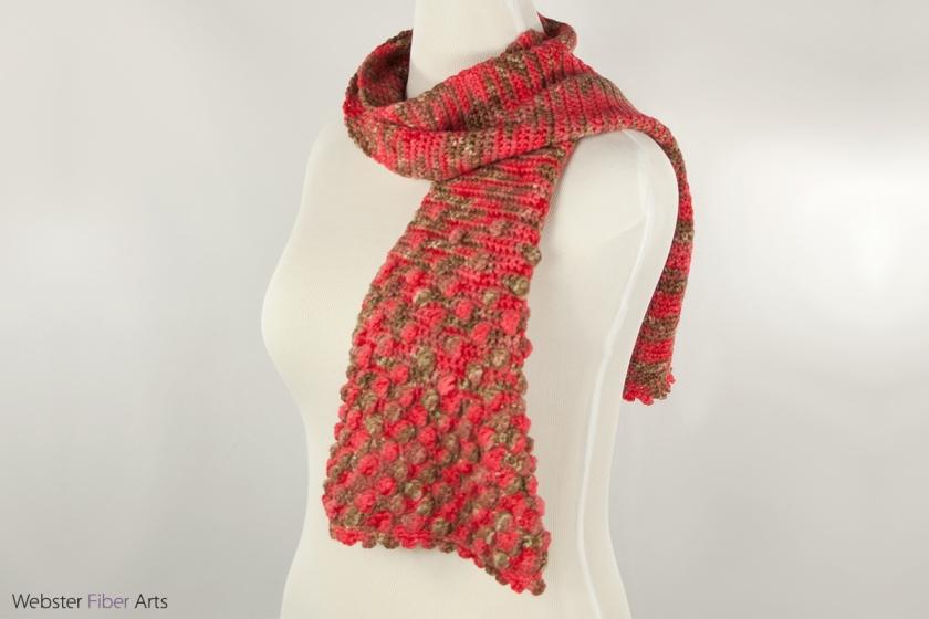 Cherry Cola Handmade Scarf | Webster Fiber Arts | Etsy