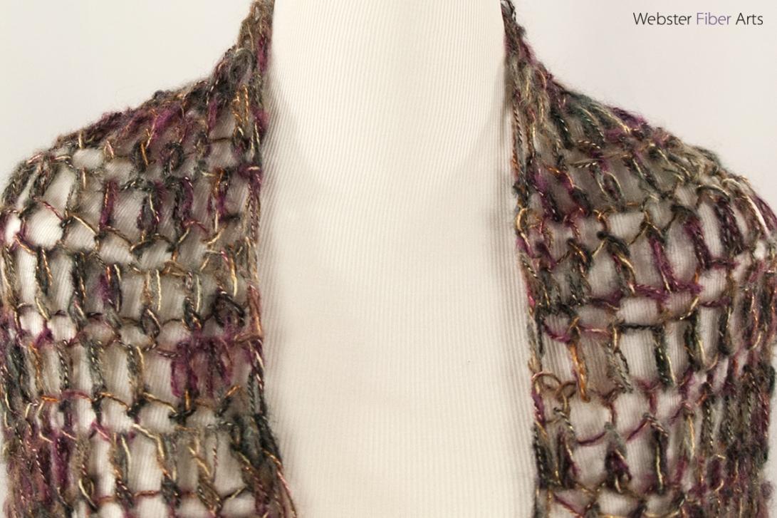 Metallic Mesh Handmade Wrap | Webster Fiber Arts | Etsy