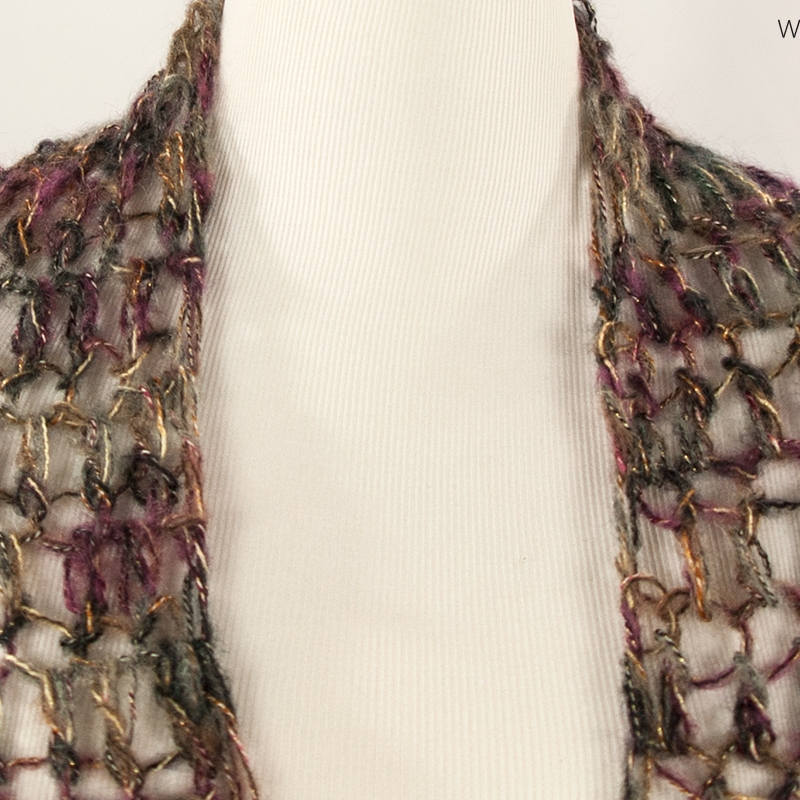 Metallic Mesh Handmade Wrap | Webster Fiber Arts | Etsy