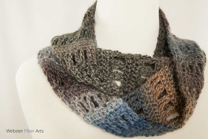 Foggy Fives Handmade Infinity Scarf | Webster Fiber Arts | Etsy