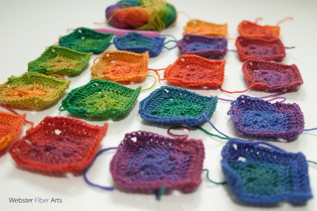 Mini Mochi Intense Rainbow Squares | Webster Fiber Arts