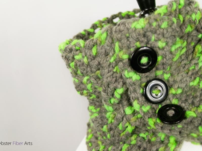 Handmade Parakeet Button Cowl   Webster Fiber Arts   Etsy