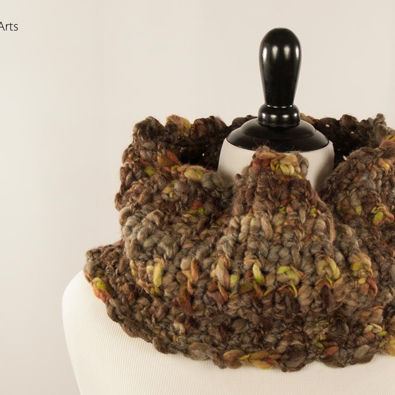 Handmade Tree Bark Cowl | Webster Fiber Arts | Etsy
