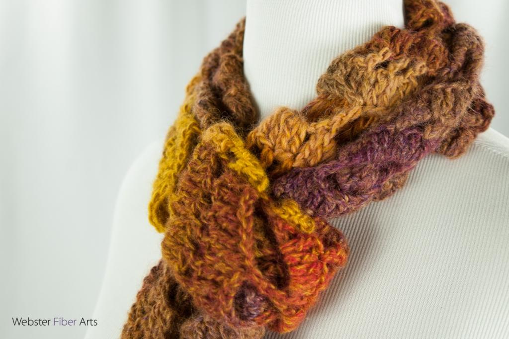Twisted Mesa Handmade Scarf | Webster Fiber Arts | Etsy