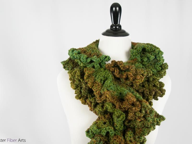 Forest Flutter Handmade Scarf | Webster Fiber Arts | Etsy