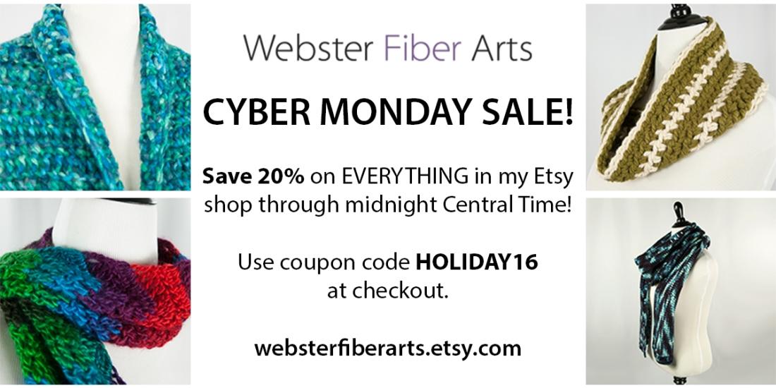 Cyber Monday Sale   Webster Fiber Arts