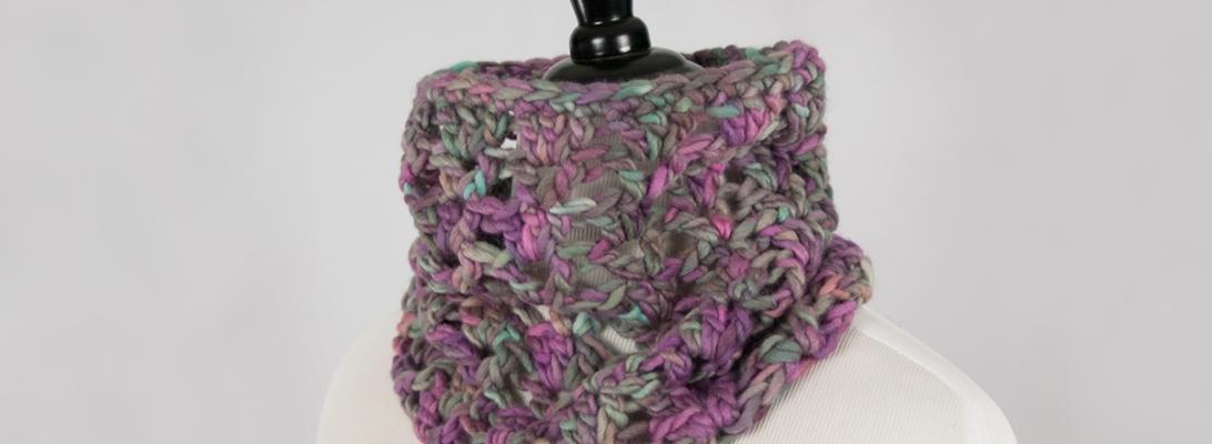 Light Side of Gray Cowl | Webster Fiber Arts