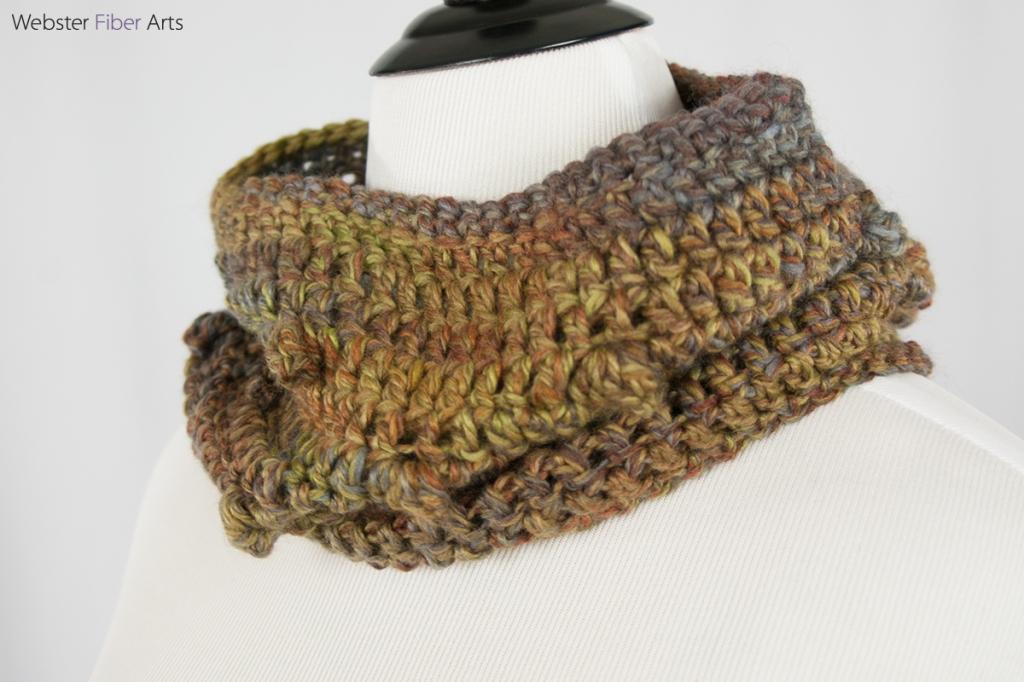 Mushroom Cap Handmade Cowl | Webster Fiber Arts | Etsy