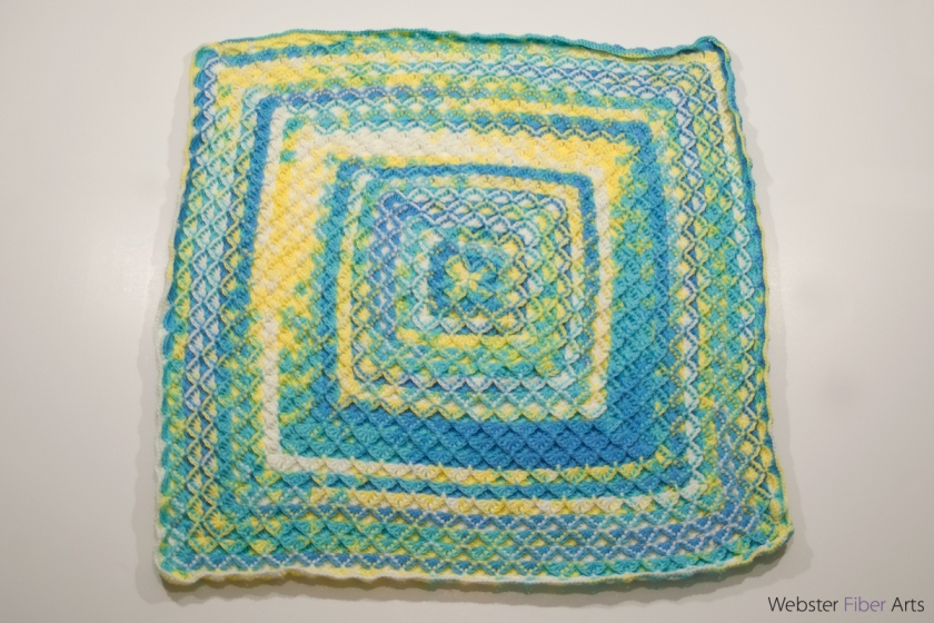 Baby Blanket for Warm Up America | Webster Fiber Arts