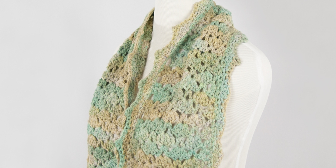 Pastel Shell Scarf | Webster Fiber Arts