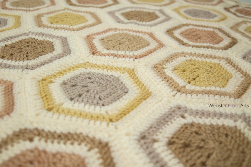 Crunchy Granola Baby Blanket Detail | Webster Fiber Arts