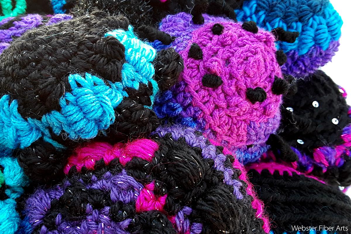 The Universe Favors Spheres Detail 3   Annie Webster   Webster Fiber Arts
