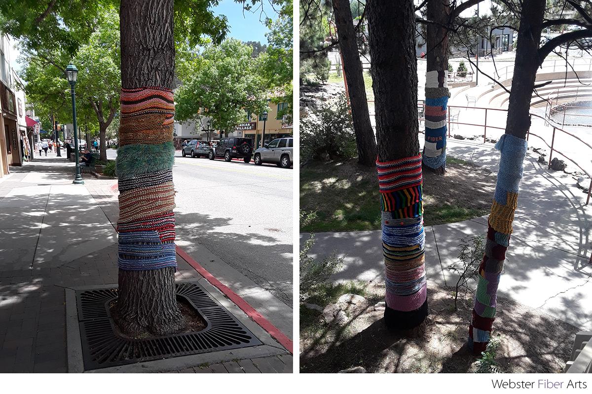 Yarn Bombing in Estes Park | Webster Fiber Arts