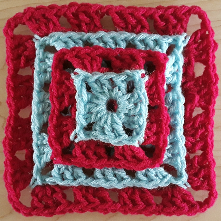 Layered Granny Square | Annie Webster | Webster Fiber Arts