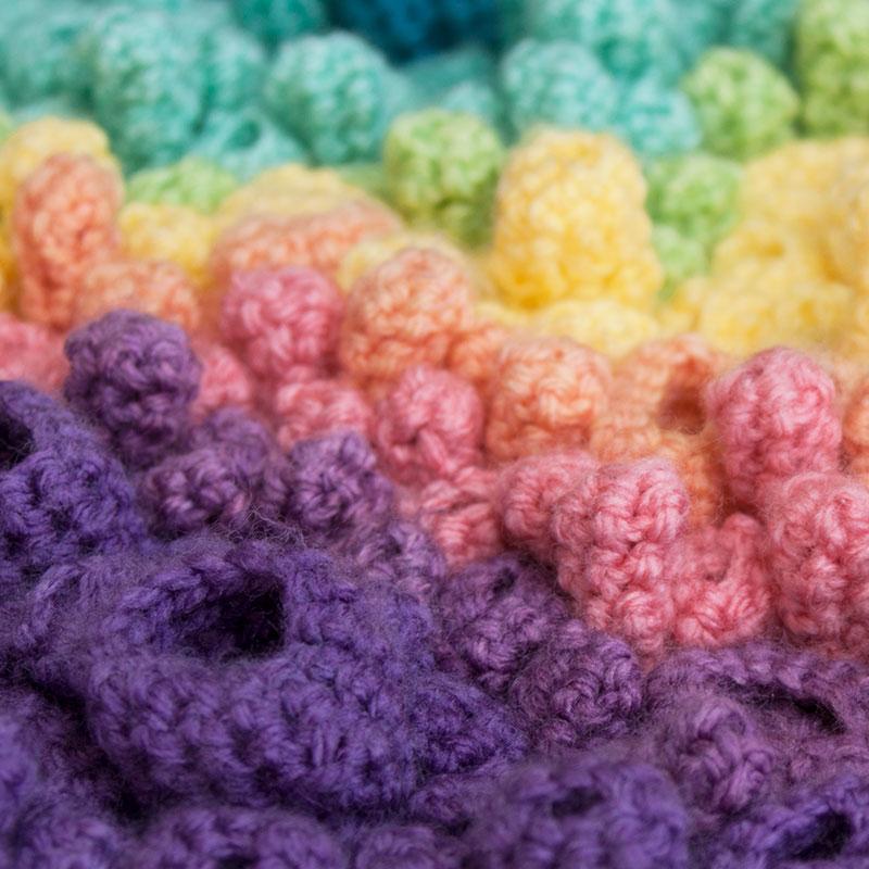 Coral Spectrum Detail by Annie Webster | Webster Fiber Arts